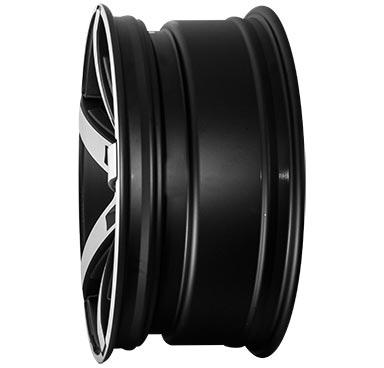 """alu kola BROCK B35 černá mat - leštěné schwarz-matt front-poliert 8,5x19"""" 5x112 ET43 66,6"""