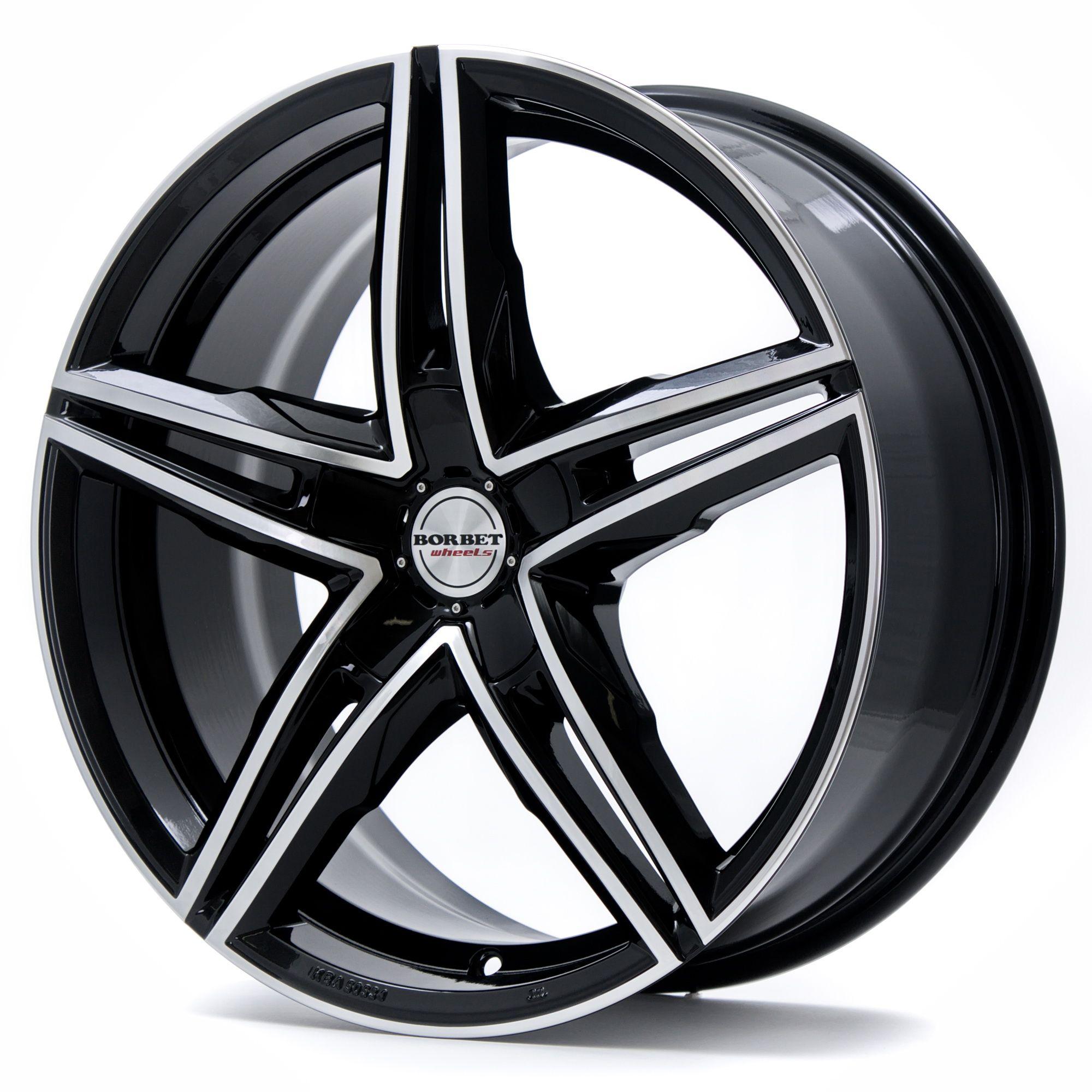 "alu kola BORBET xrs black polished glossy 8x18"" 5x114,3 ET35 72,5"