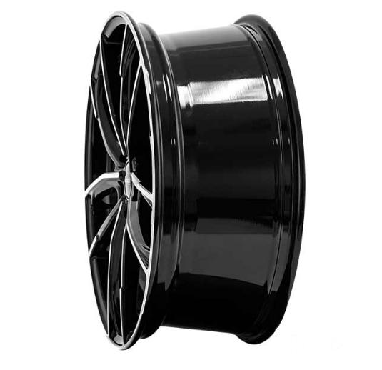 """alu kola BROCK B38 černé - leštěné čelo schwarz front-poliert 8x19"""" 5x112 ET44 57,1"""