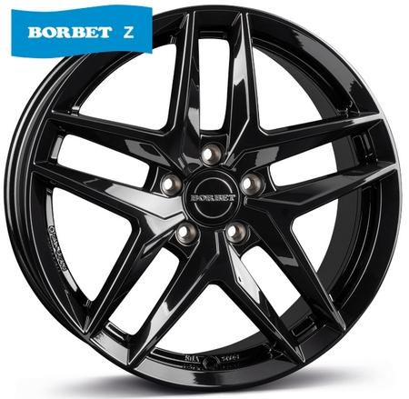 """alu kola BORBET Z black glossy 6,5x16"""" 5x112 ET44 66,5"""