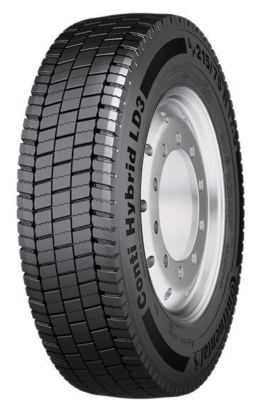 CONTINENTAL HYBRID LD3 3PMSF 225/75 R17,5 129M, celoroční pneu, nákladní